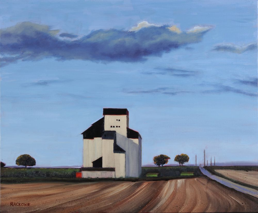 Summer Silo painting by Amanda Rackowe