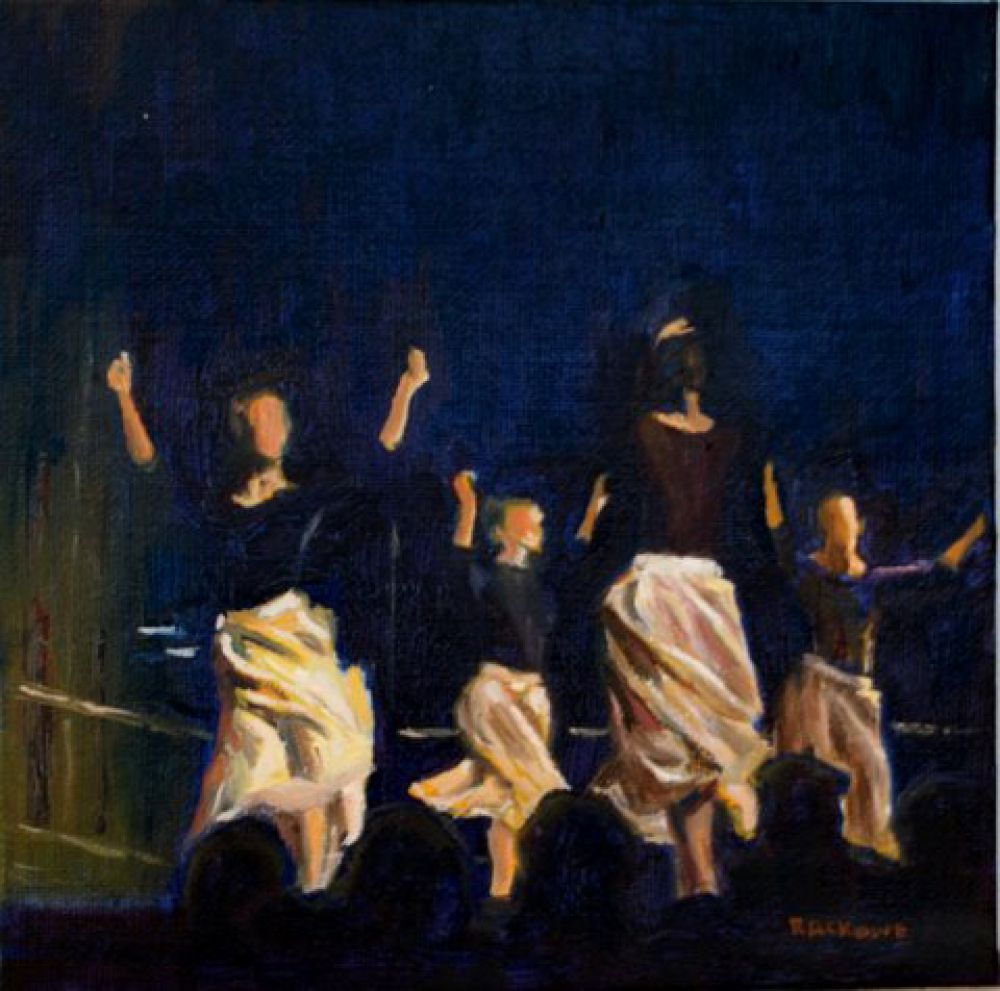 The Basque Dancers painting by Amanda Rackowe