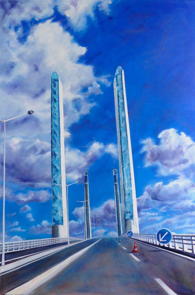 Bridge in the Clouds painting by Amanda Rackowe