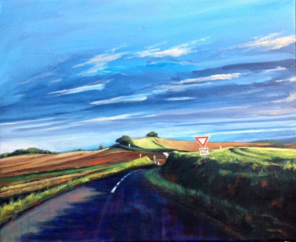 Country Crossroads painting by Amanda Rackowe