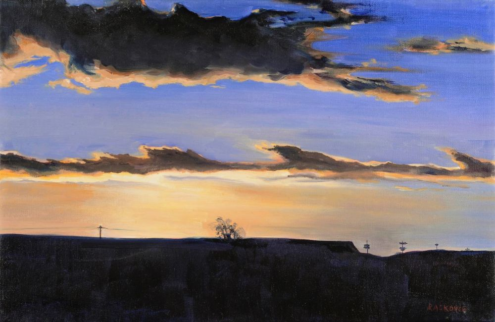Dusk on the Ridge painting by Amanda Rackowe