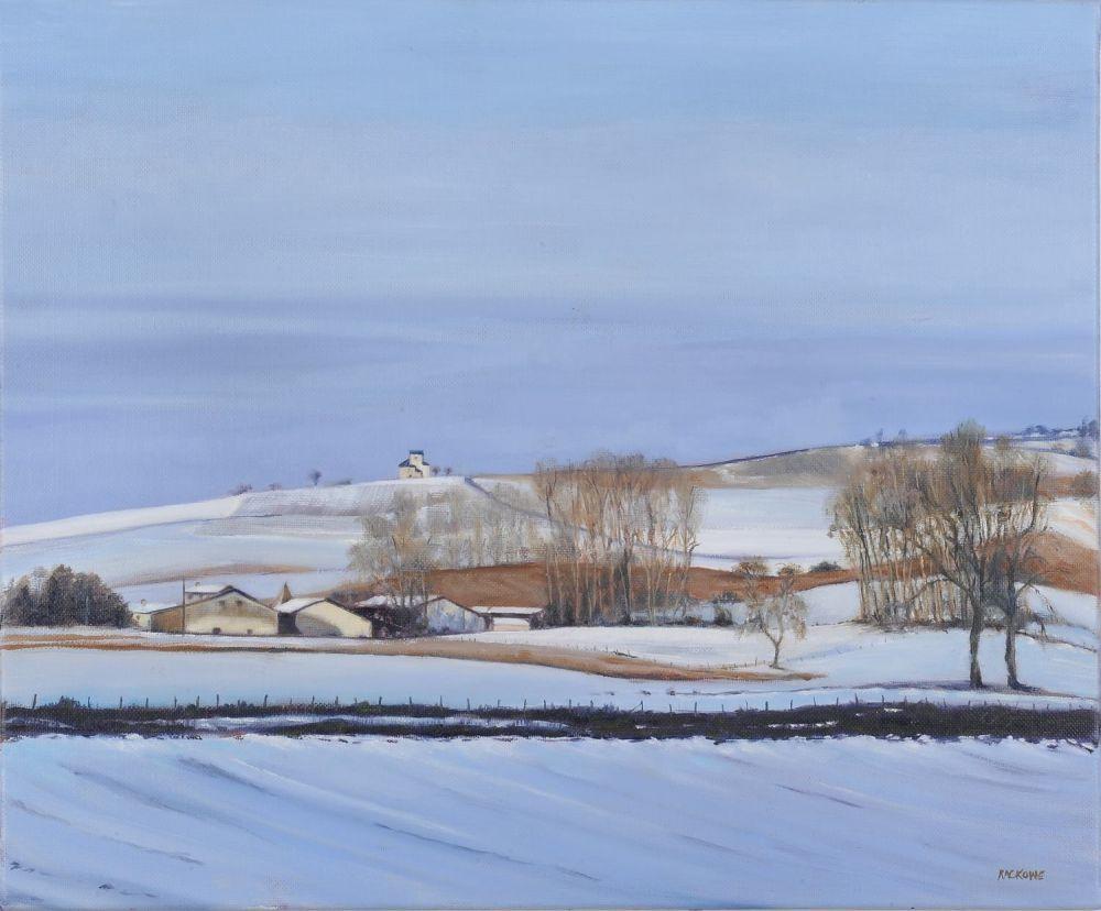 The Little Farm at La Peysonnie painting by Amanda Rackowe