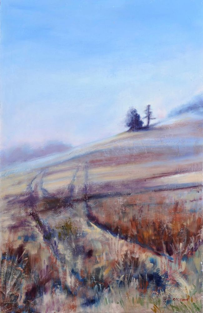 Foggy Morning painting by Amanda Rackowe
