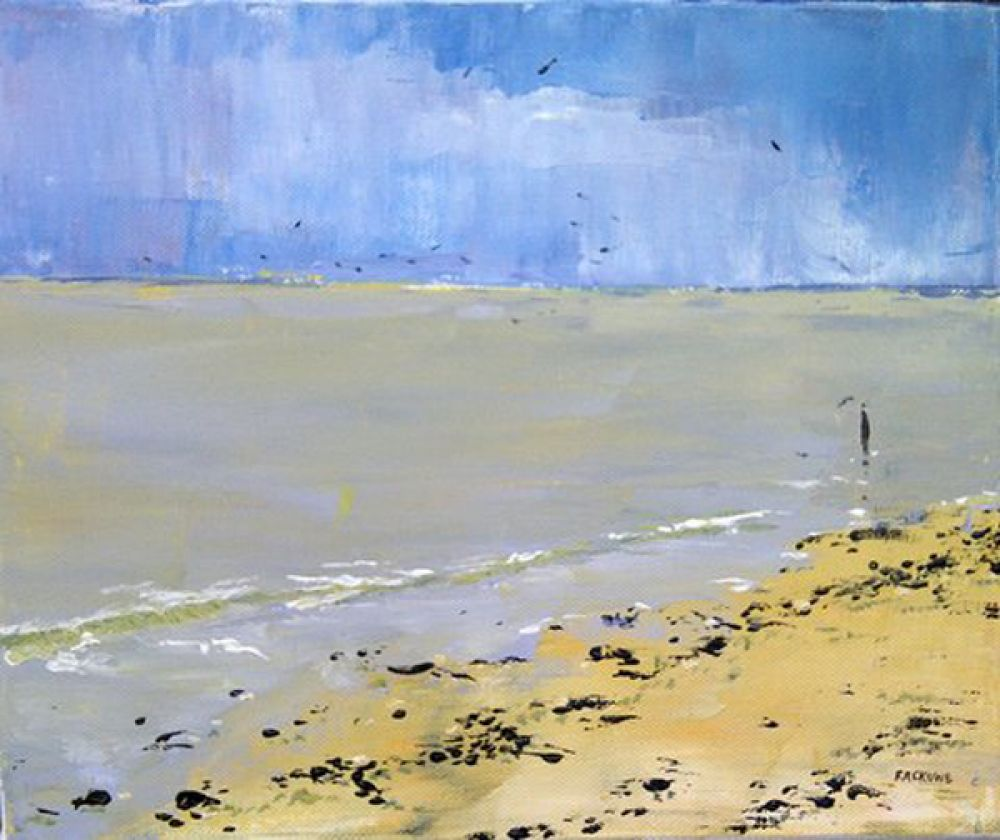 Normandy Beach painting by Amanda Rackowe