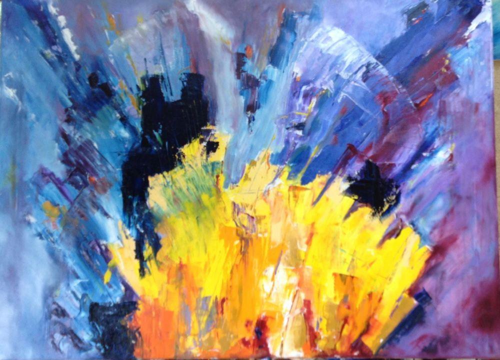 Pensées painting by Amanda Rackowe