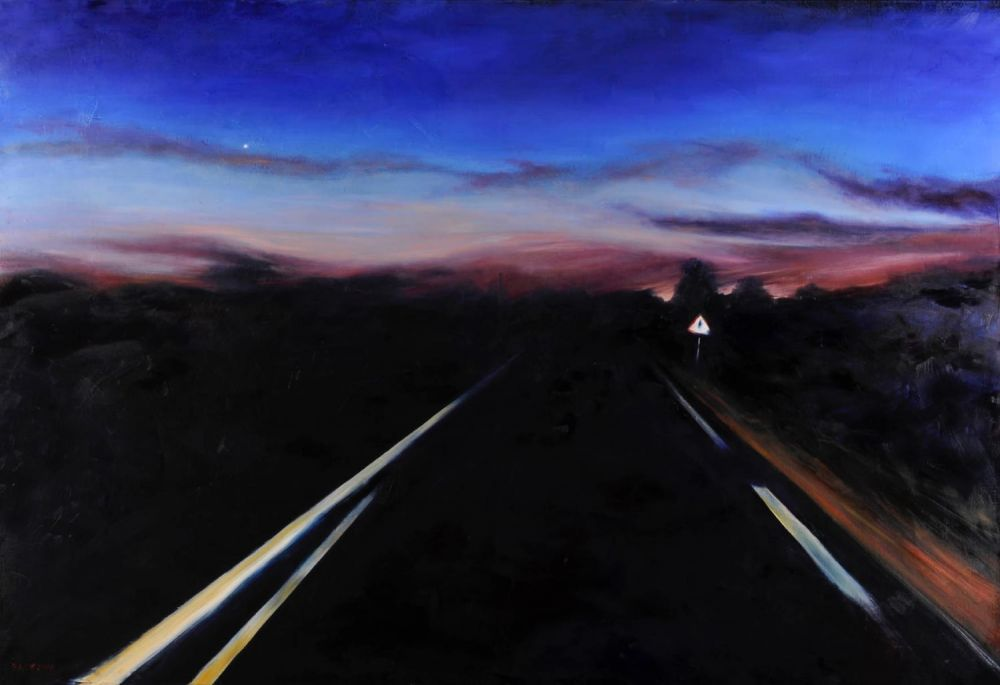 The Road to Venus painting by Amanda Rackowe