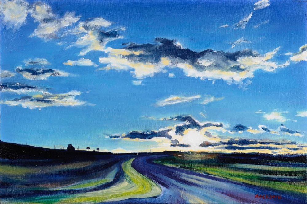 Twilight On The Ridge painting by Amanda Rackowe
