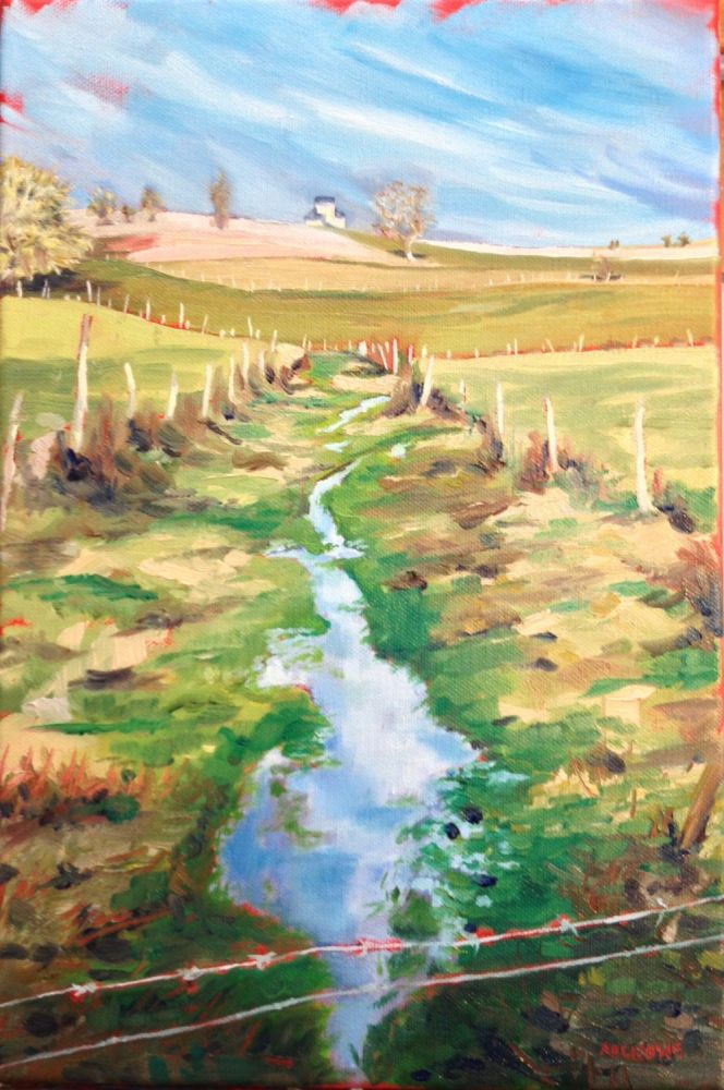 Where have all the Poplars Gone? painting by Amanda Rackowe