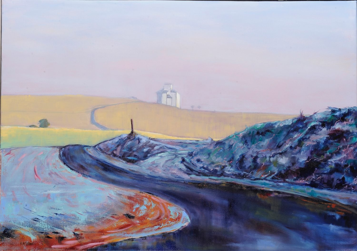 Towards the Silo (10 Minutes After) painting by Amanda Rackowe