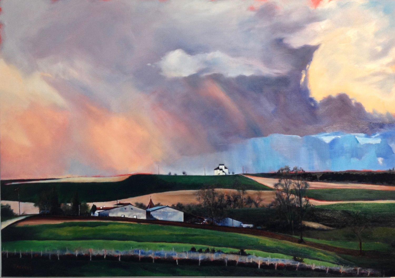 White Chimneys painting by Amanda Rackowe
